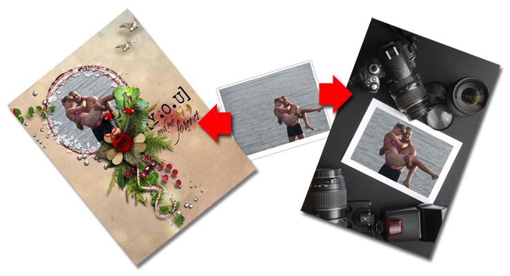 Варианты оформления фотографий используя фотосервис онлайн, семейный отдых, счастливые моменты